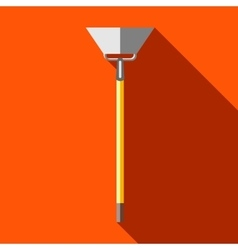 Hoe digging tool icon in flat style vector