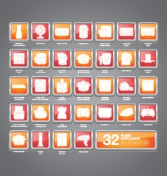 Home Appliances Icons Hydra vector