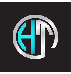 Ht initial logo linked circle monogram vector