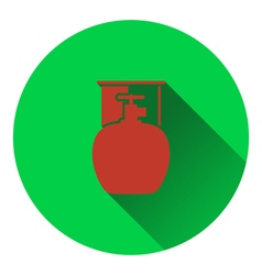 Icon of camping gas container vector