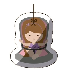 Isolatd baby girl design vector