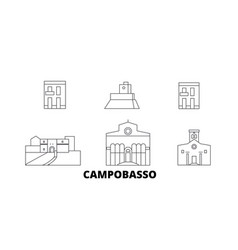 Italy campobasso line travel skyline set italy vector