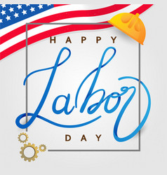 labor day in america background design template vector image
