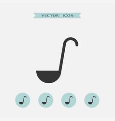 Ladle icon simple vector