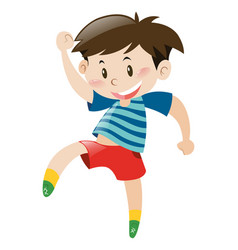 little boy in red shorts dancing vector image