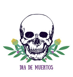 Mexican print - dia de muertos day of the dead vector