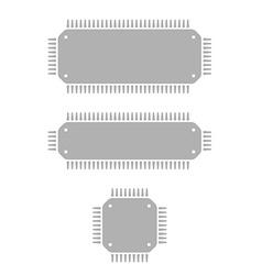 Microchips vector