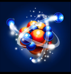 Molecule atoms and particles vector