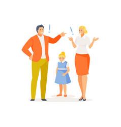 Parental quarrel vector