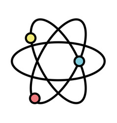 Physics atom chemistry science education vector
