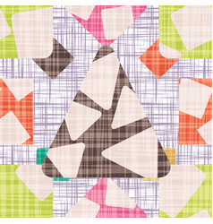 retro design backdrop with geometric shapes vector image