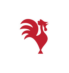 rooster icon design template isolated vector image