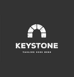 rustic simple minimalist keystone canal brick vector image