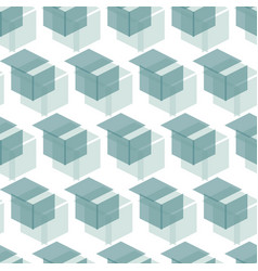 seamless cube like geometric pattern from shape vector image