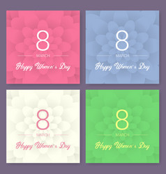 set of abstract floral greeting card vector image