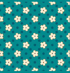 simple pattern with small blooming cherry flowers vector image