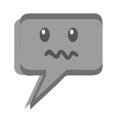 speech bubble face kawaii vector image
