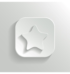 Star icon - white app button vector