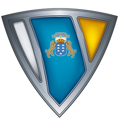 steel shield canary islands vector image