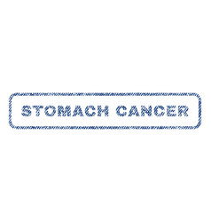 Stomach cancer textile stamp vector
