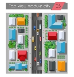 top view highway vector image