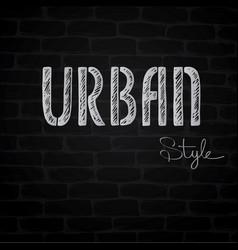 Urban word background vector