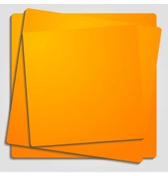 Vibrant orange template vector image