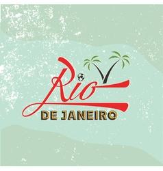 vintage of Rio de Janeiro vector image