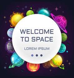 Welcome to space creative space background with vector