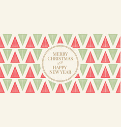 winter holidays greeting card vector image