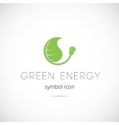 Green Energy Concept Symbol Icon or Label vector image vector image
