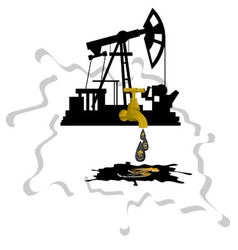 Oil extraction 1 vector image vector image