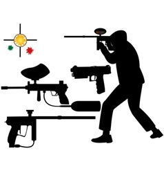 paintball target vector image
