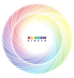 Rainbow circle vector image vector image