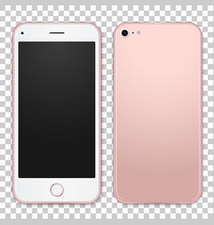 single pink mobile template with blank screen on vector image vector image