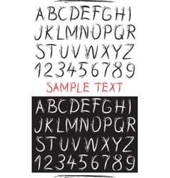 Sketch drawn alphabet vector image