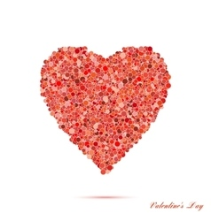 Valentines day vintage red heart with circles vector image