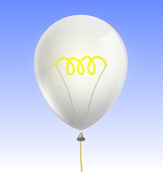 Balloon in the form of an incandescent lamp vector image