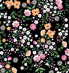 delicate floral seamless background vector image vector image