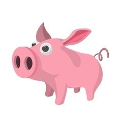 Pig cartoon icon vector image vector image