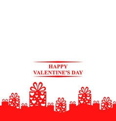 valentine gift stand vector image vector image