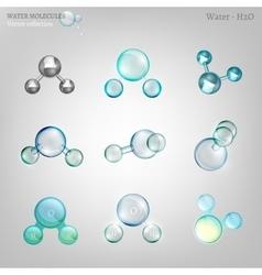 Water molecules set vector image