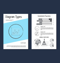 diagram types wold map data vector image vector image