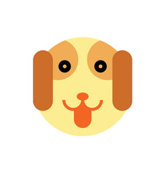 dog cartoon animal head vector image