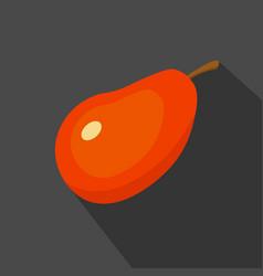 mango cartoon flat icondark blue background vector image vector image