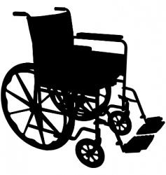 wheelchair vector image