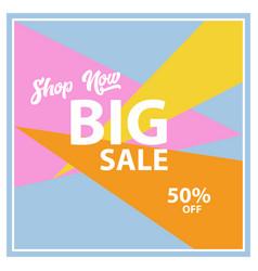 big sale banner design vector image