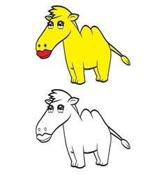 Cute cartoon camel vector image vector image