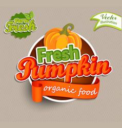 fresh pumkin logo vector image vector image