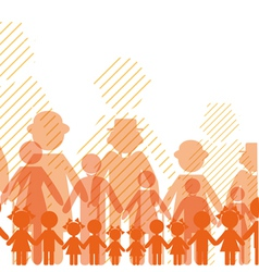 icon crowd people vector image vector image